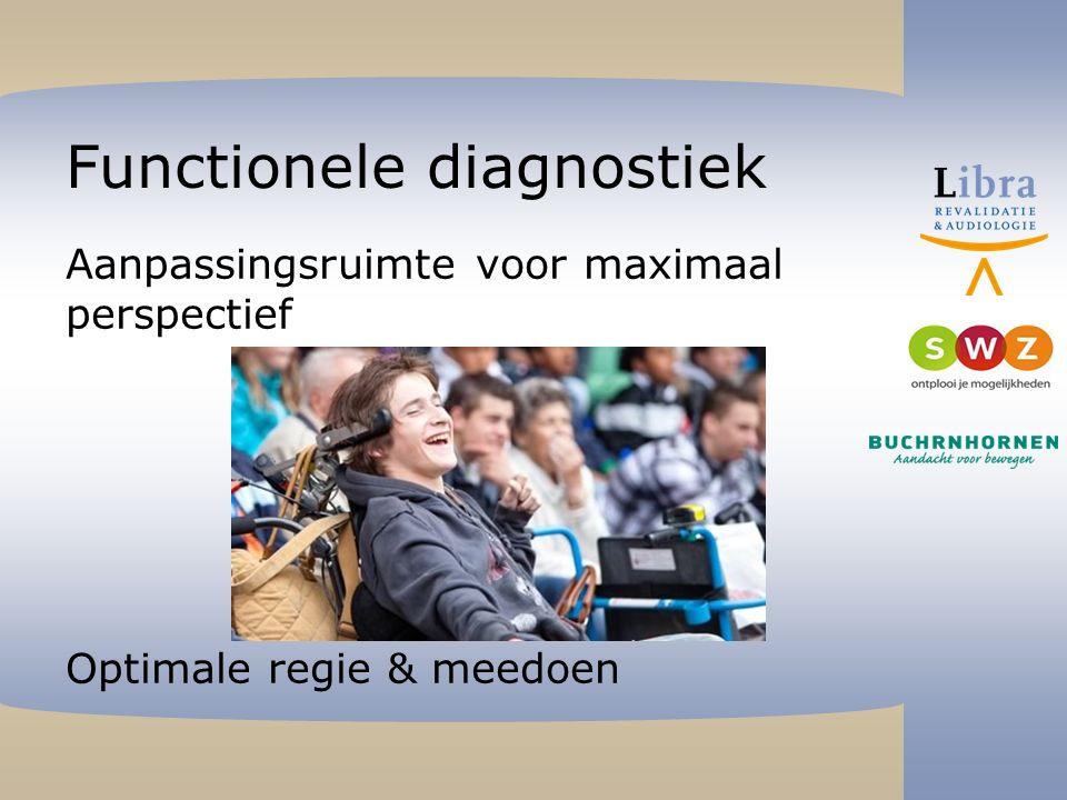 Functionele diagnostiek Aanpassingsruimte voor maximaal perspectief Optimale regie & meedoen