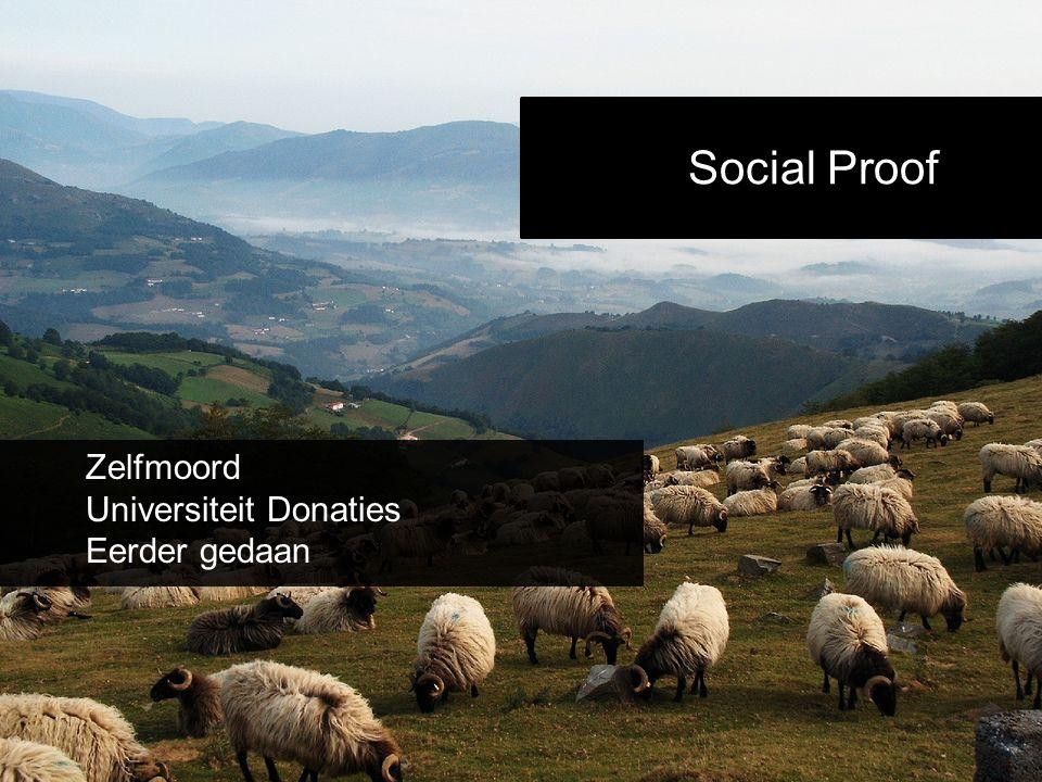 Social Proof Zelfmoord Universiteit Donaties Eerder gedaan
