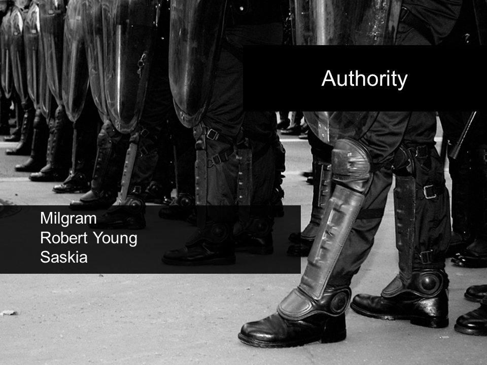 Authority Milgram Robert Young Saskia