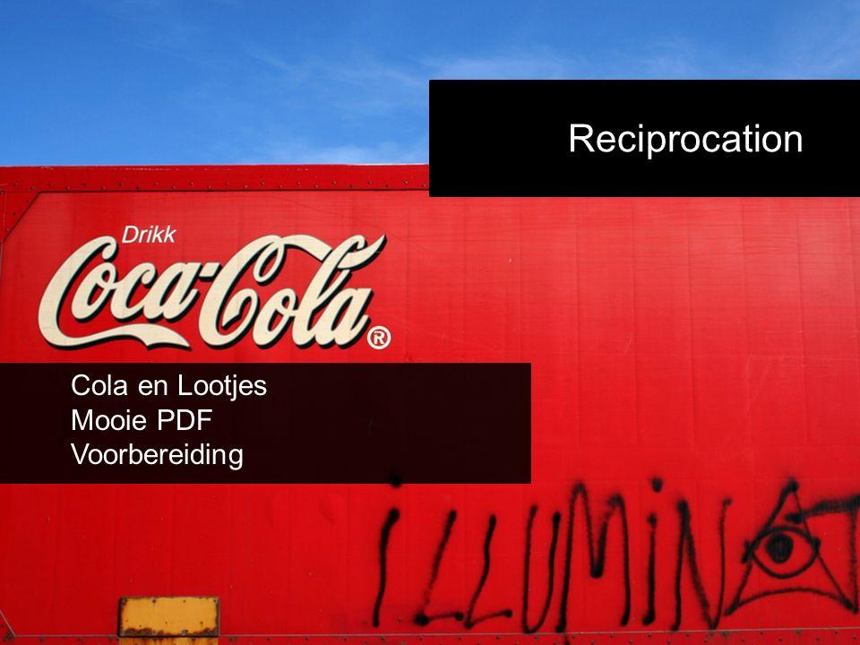 Reciprocation Cola en Lootjes Mooie PDF Voorbereiding