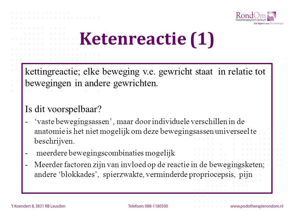Ketenreactie (1) kettingreactie; elke beweging v.e.