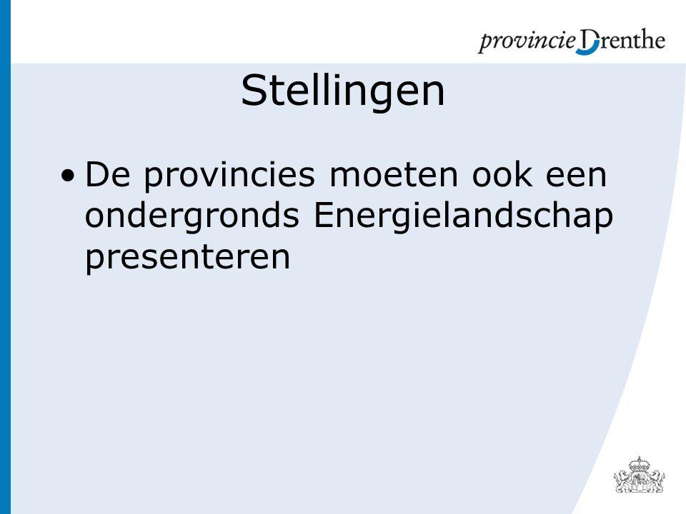 Stellingen De provincies moeten ook een ondergronds Energielandschap presenteren