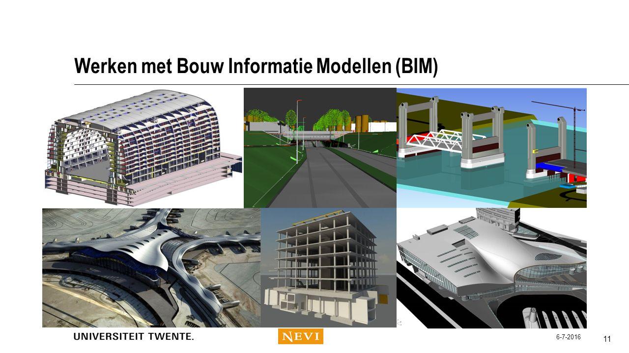 Werken met Bouw Informatie Modellen (BIM) 11 6-7-2016