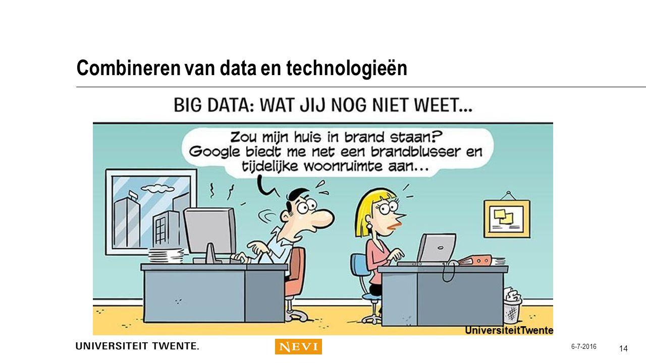 Combineren van data en technologieën 14 UniversiteitTwente 6-7-2016