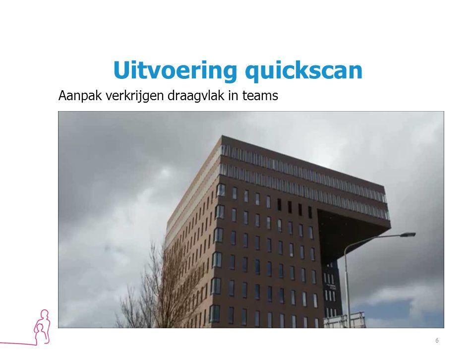 Uitvoering quickscan Aanpak verkrijgen draagvlak in teams 6