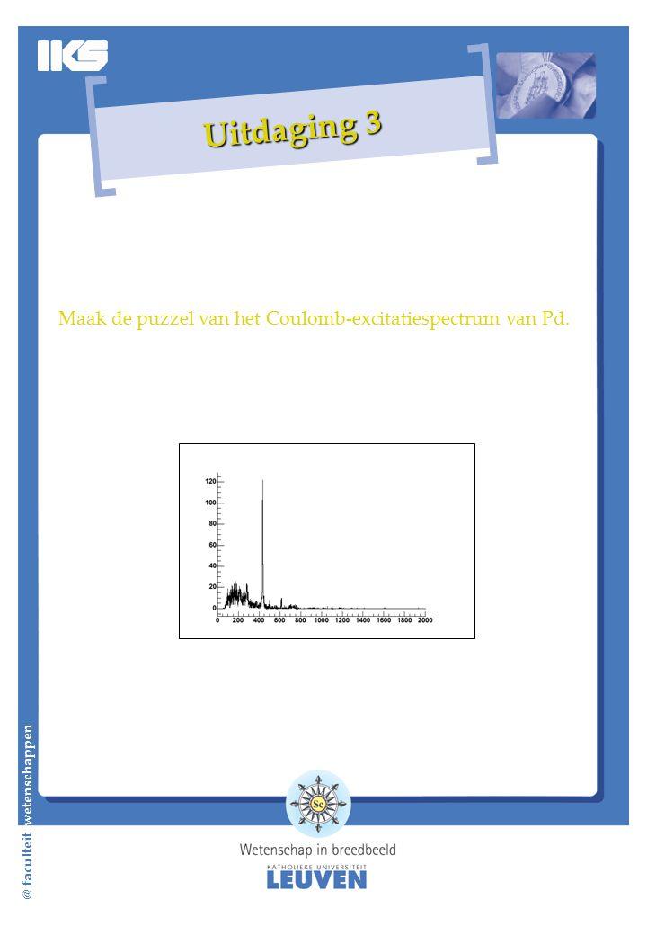 Maak de puzzel van het Coulomb-excitatiespectrum van Pd. @ faculteit wetenschappen Uitdaging 3