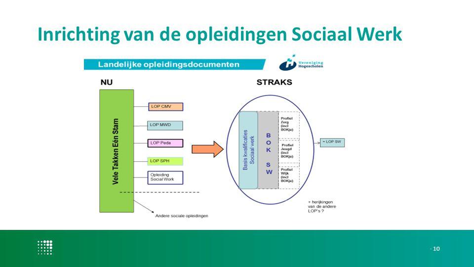 Inrichting van de opleidingen Sociaal Werk · 10