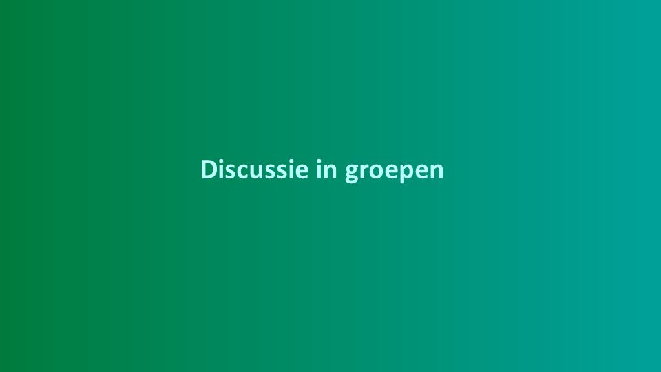 Discussie in groepen