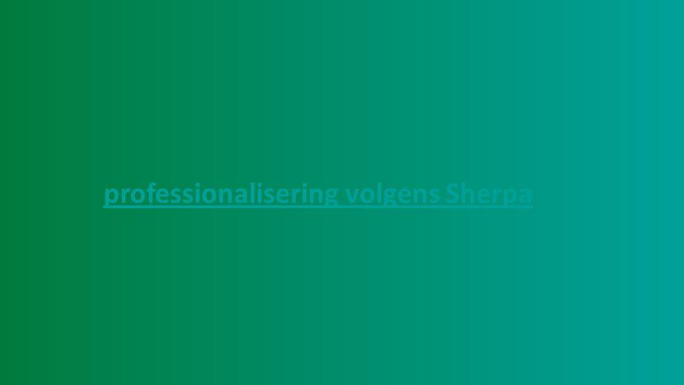professionalisering volgens Sherpa