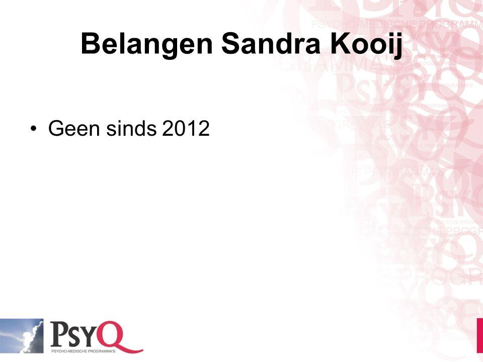 Belangen Sandra Kooij Geen sinds 2012