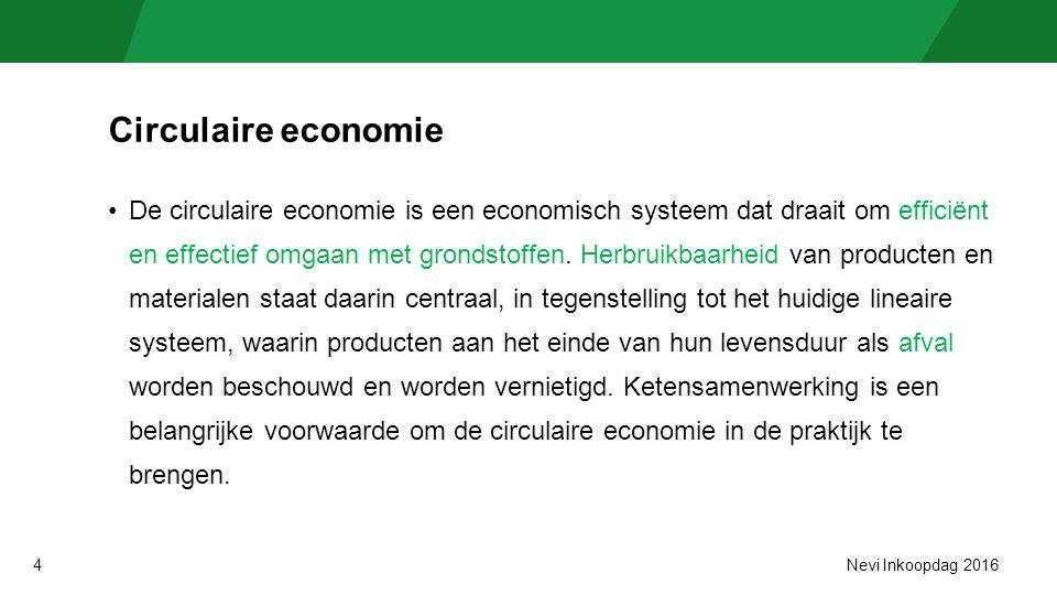4 Circulaire economie De circulaire economie is een economisch systeem dat draait om efficiënt en effectief omgaan met grondstoffen.