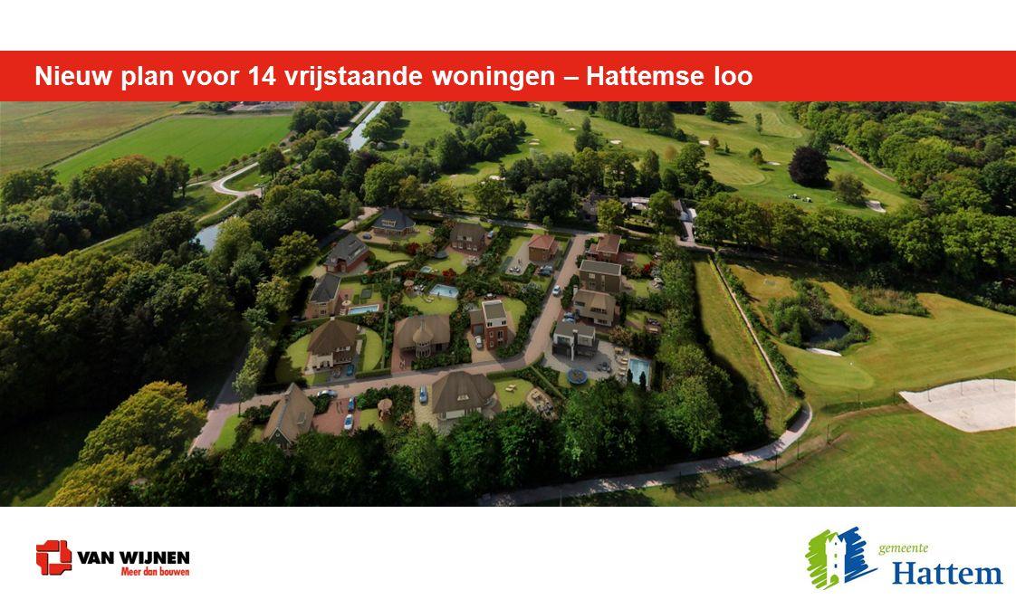 Nieuw plan voor 14 vrijstaande woningen – Hattemse loo