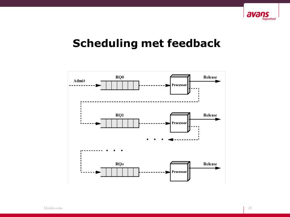 Module code: Scheduling met feedback 20
