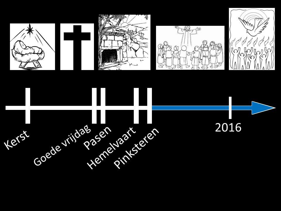 Kerst Goede vrijdag Pasen Hemelvaart Pinksteren 2016