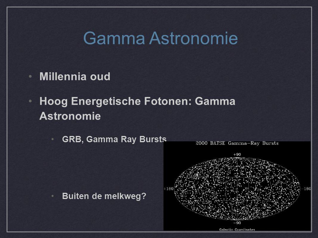 Gamma Astronomie Millennia oud Hoog Energetische Fotonen: Gamma Astronomie GRB, Gamma Ray Bursts Buiten de melkweg