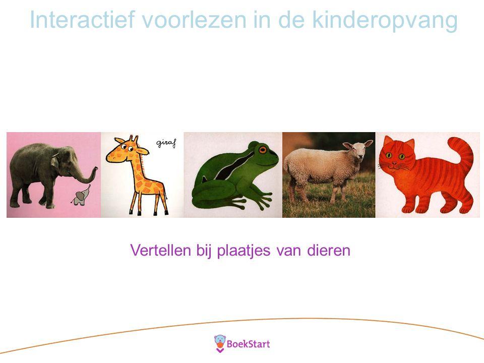 Interactief voorlezen in de kinderopvang Vertellen bij plaatjes van dieren