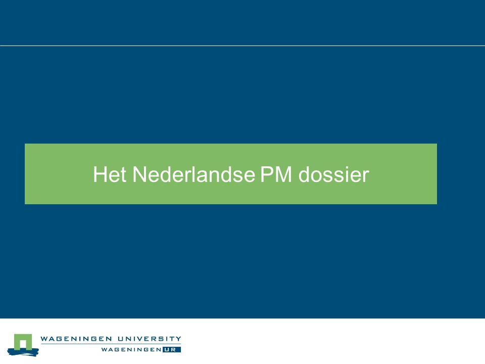 Het Nederlandse PM dossier