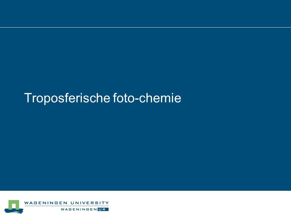 Troposferische foto-chemie