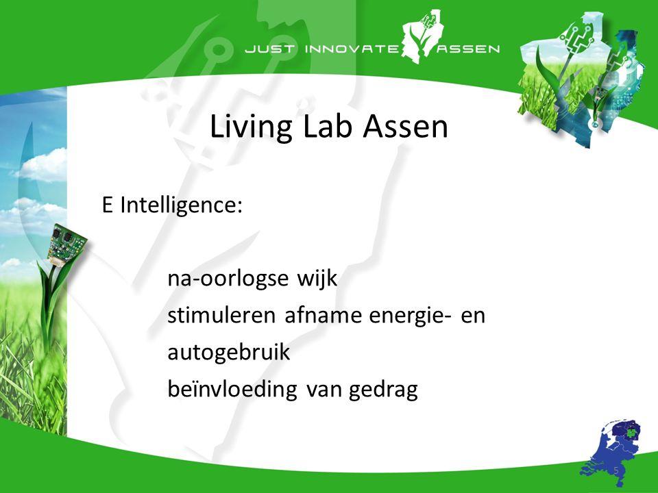 Living Lab Assen E Intelligence: na-oorlogse wijk stimuleren afname energie- en autogebruik beïnvloeding van gedrag 5