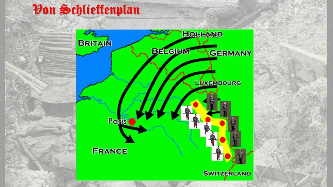 1.Voorste linie loopgraven 2.Prikkeldraad en Spaanse ruiters 3.Tweede linie 4.Verbindingsloopgraven 5.Reservelinie