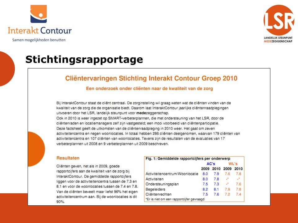 Stichtingsrapportage