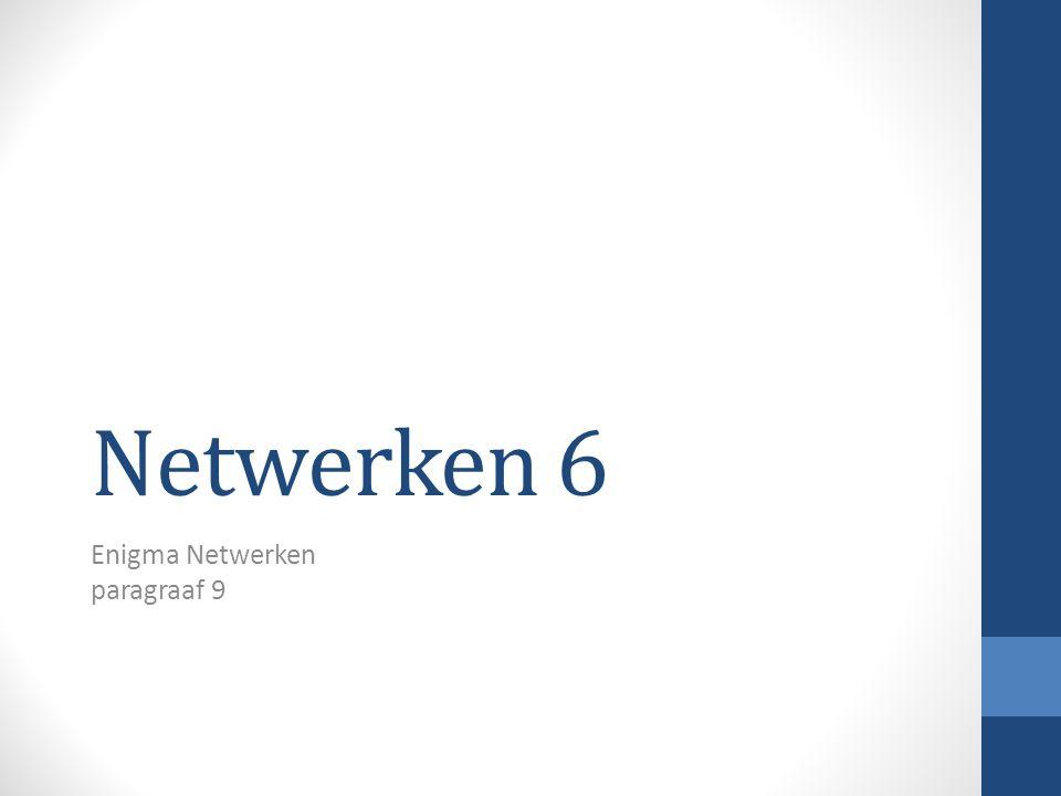 Netwerken 6 Enigma Netwerken paragraaf 9