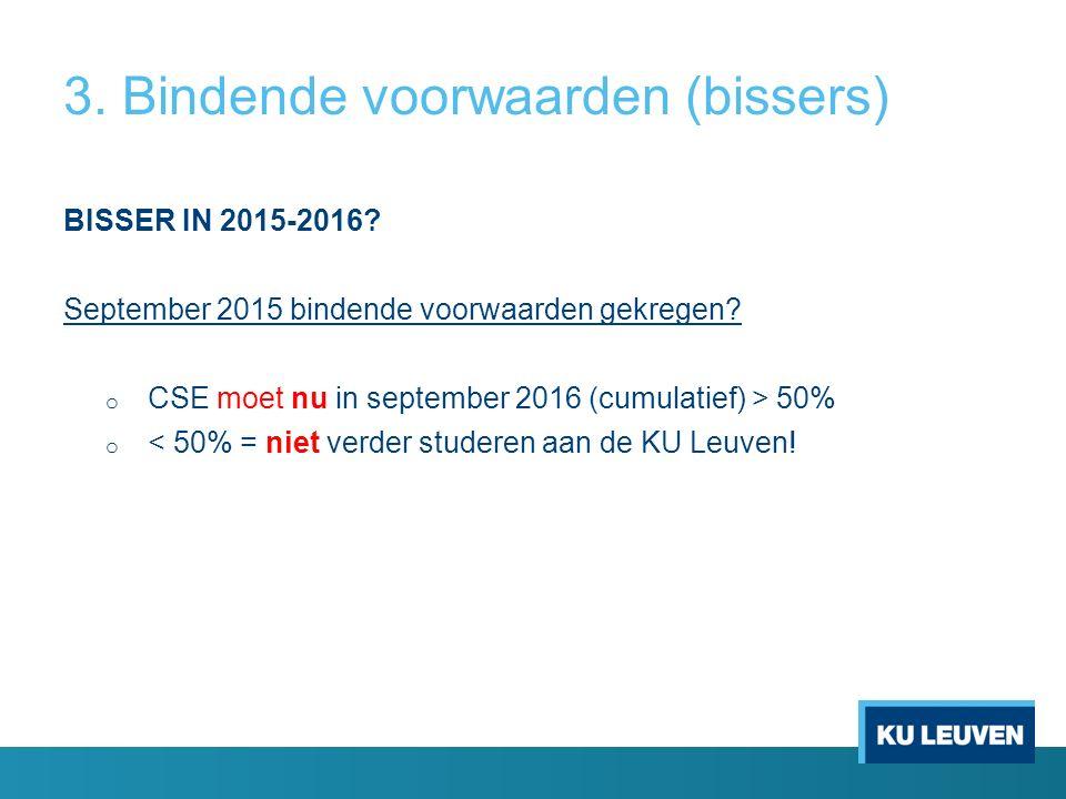 3. Bindende voorwaarden (bissers) BISSER IN 2015-2016.