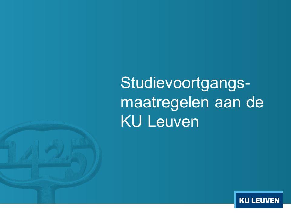 Studievoortgangs- maatregelen aan de KU Leuven