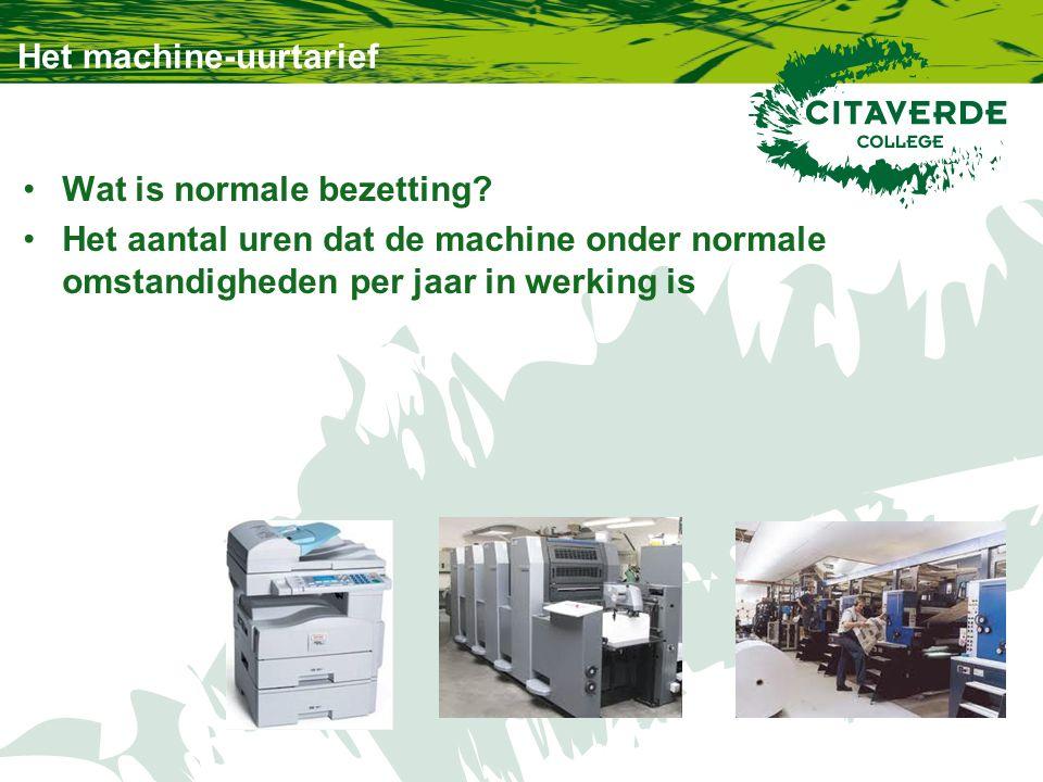 Het machine-uurtarief Wat is normale bezetting.