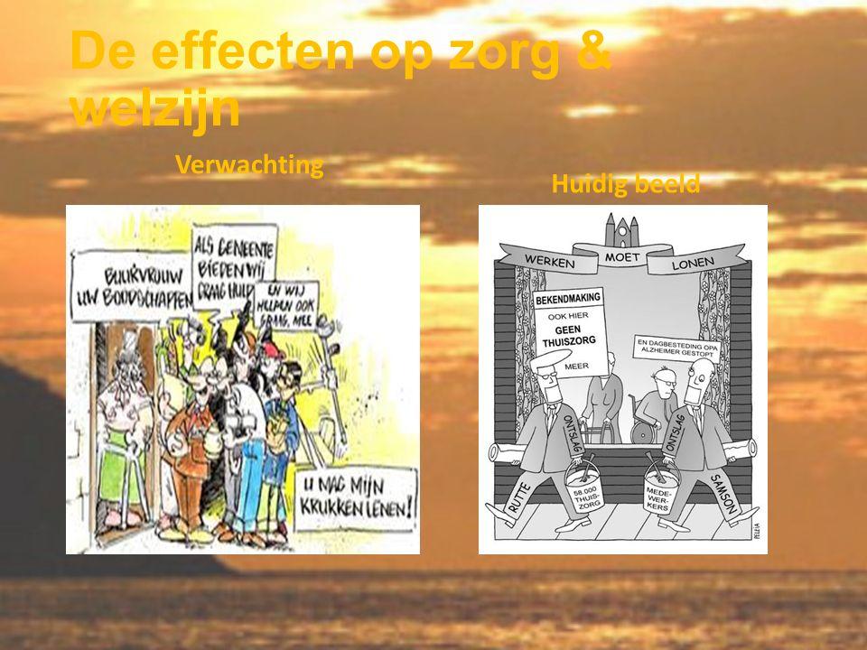 De effecten op zorg & welzijn Verwachting Huidig beeld