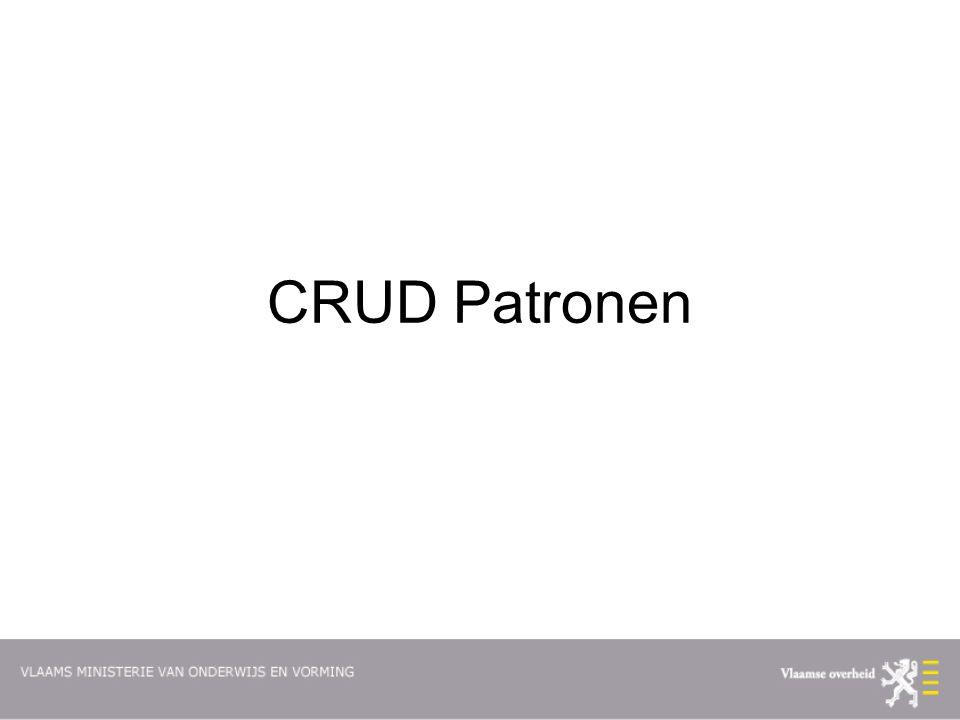 CRUD Patronen