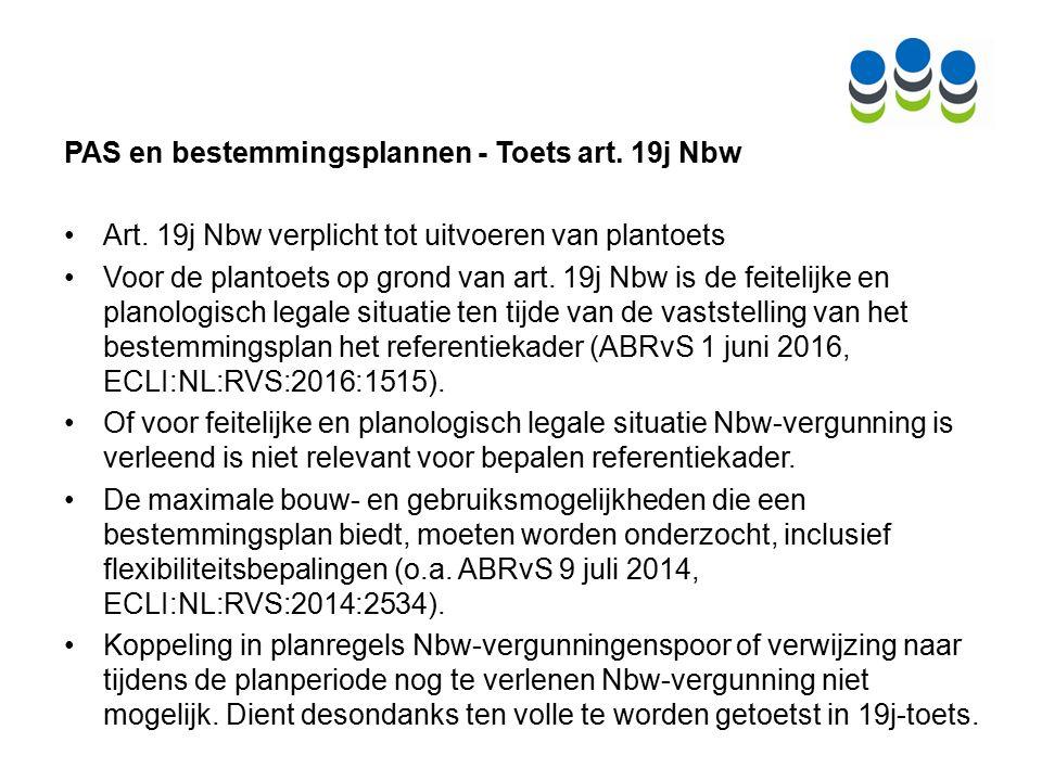 PAS en bestemmingsplannen - Toets art. 19j Nbw Art.
