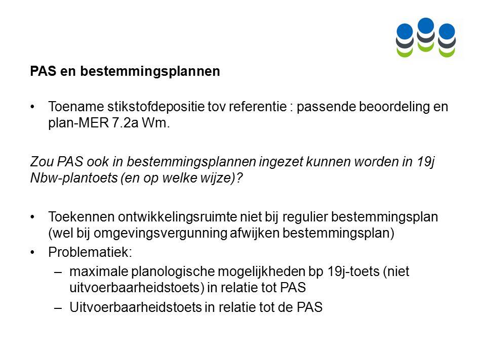 PAS en bestemmingsplannen Toename stikstofdepositie tov referentie : passende beoordeling en plan-MER 7.2a Wm.