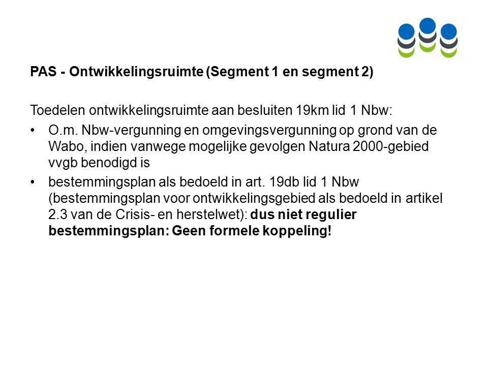 PAS en bestemmingsplannen - Toets art.19j Nbw Art.