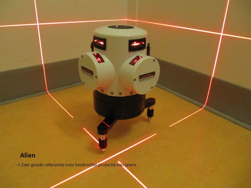 Alien -> Zeer goede referentie voor loodrechte projectie van lasers