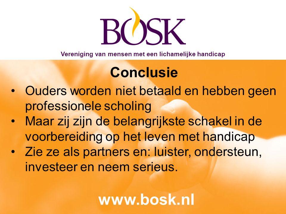 BOSK - Vereniging van motorisch gehandicapten en hun ouders De BOSK geeft kleur, al 55 jaar.
