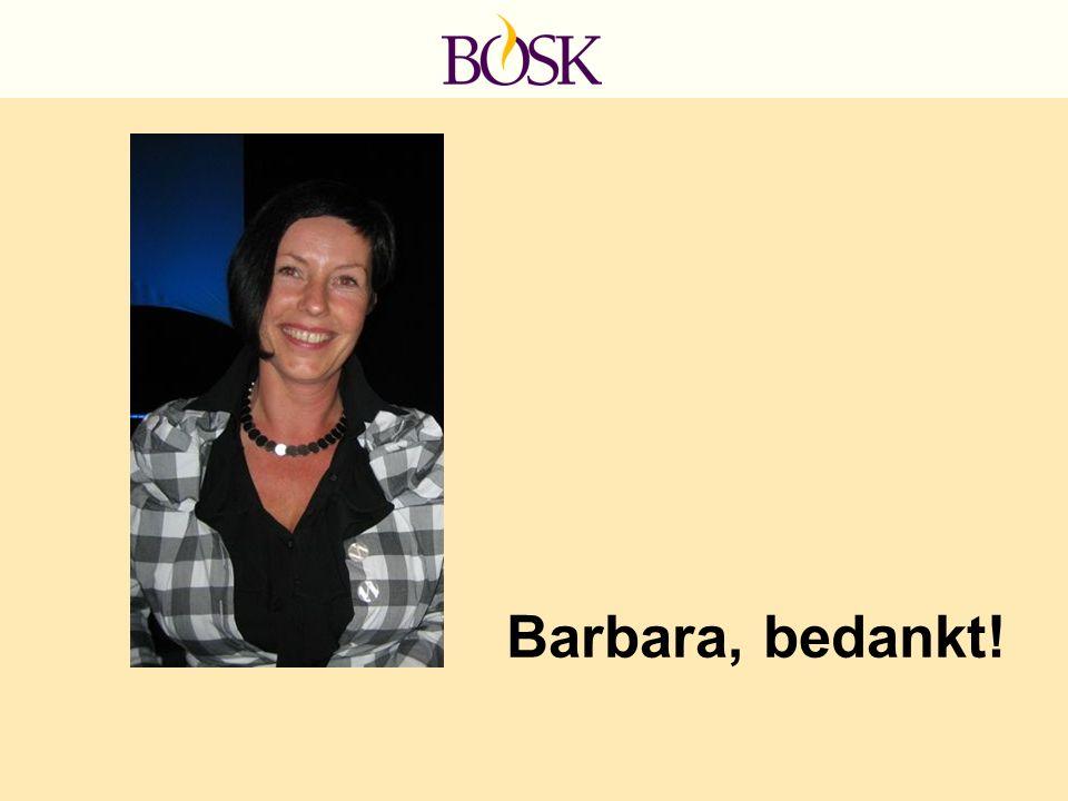 Barbara, bedankt!