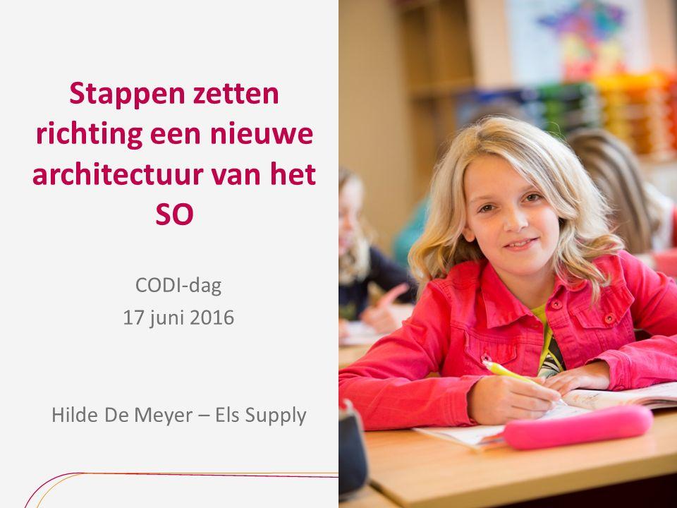 Stappen zetten richting een nieuwe architectuur van het SO CODI-dag 17 juni 2016 Hilde De Meyer – Els Supply