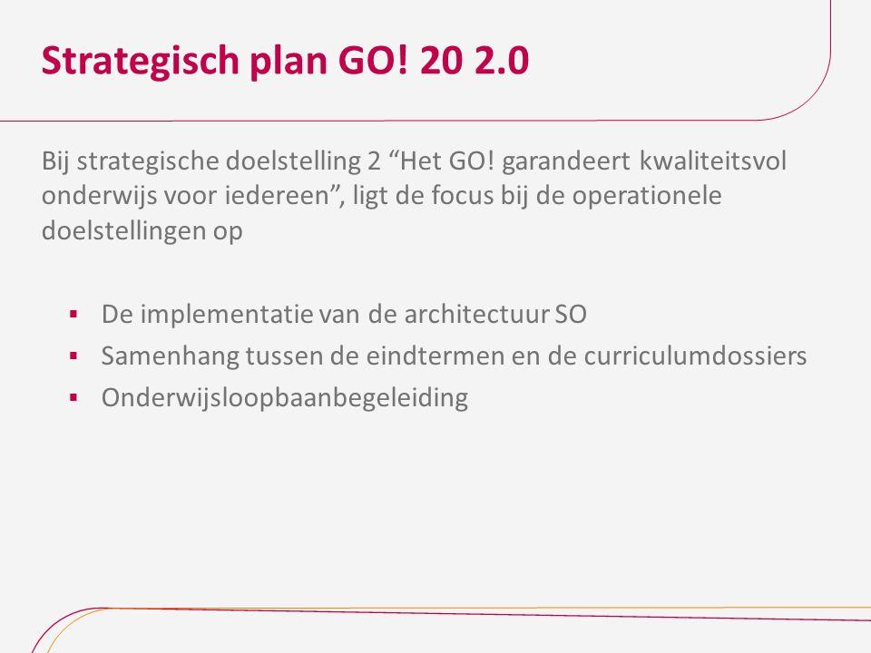 """Strategisch plan GO! 20 2.0 Bij strategische doelstelling 2 """"Het GO! garandeert kwaliteitsvol onderwijs voor iedereen"""", ligt de focus bij de operation"""
