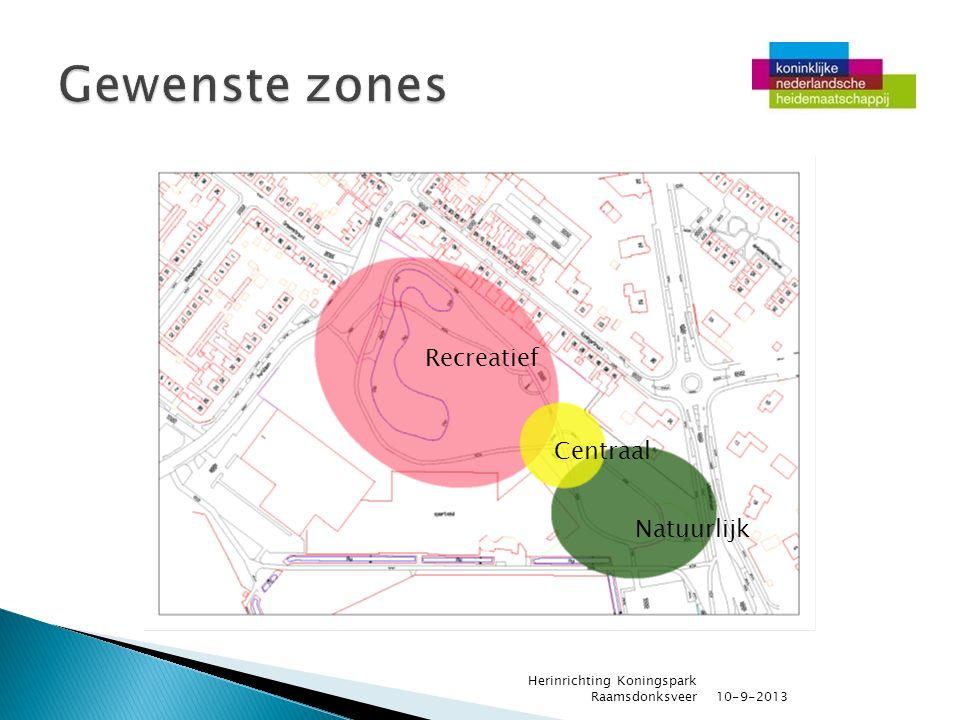 10-9-2013 Herinrichting Koningspark Raamsdonksveer Recreatief Centraal Natuurlijk