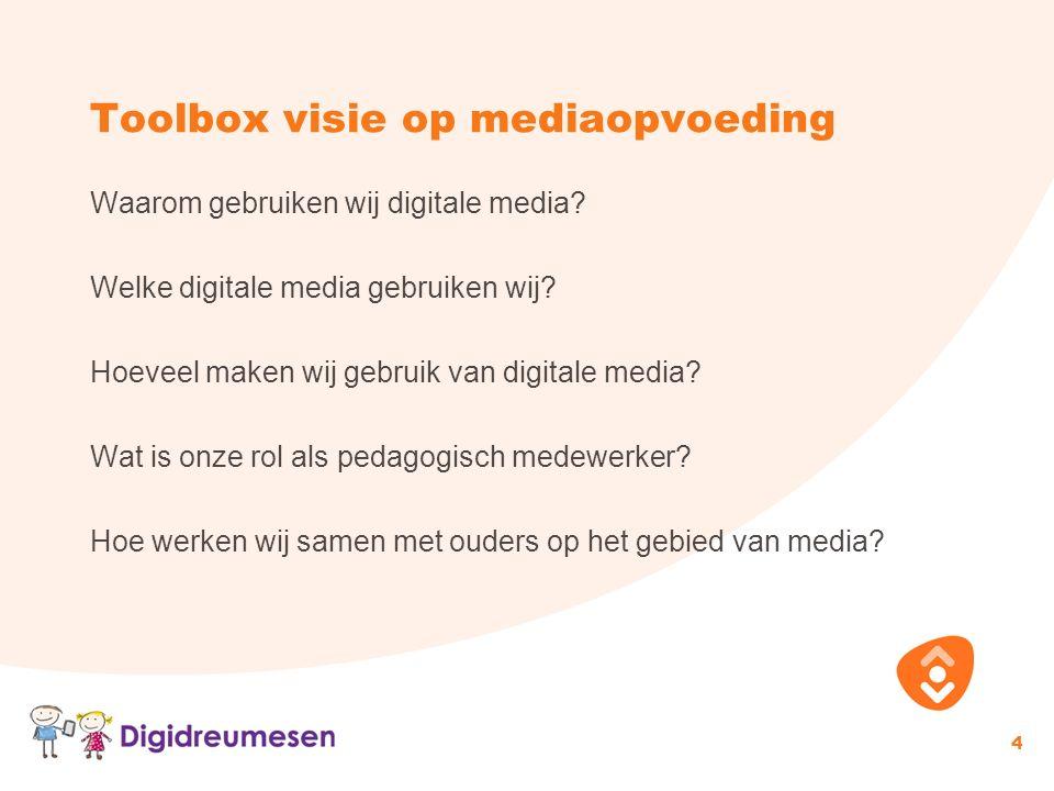 Toolbox visie op mediaopvoeding Waarom gebruiken wij digitale media.
