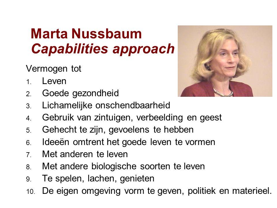 Marta Nussbaum Capabilities approach Vermogen tot 1.
