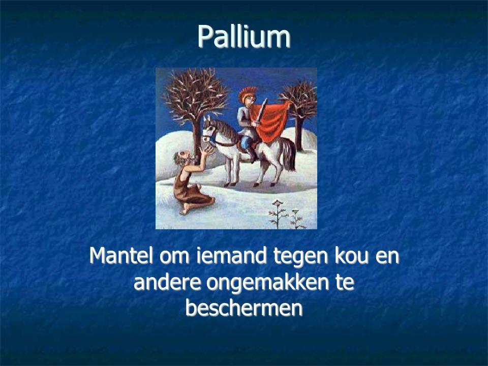 Pallium Mantel om iemand tegen kou en andere ongemakken te beschermen