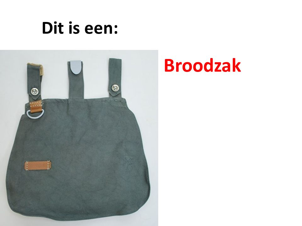 Dit is een: Broodzak