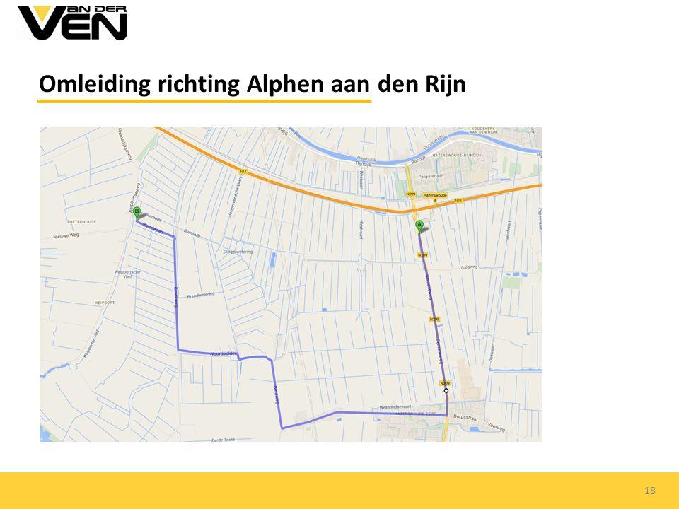 Omleiding richting Alphen aan den Rijn 18