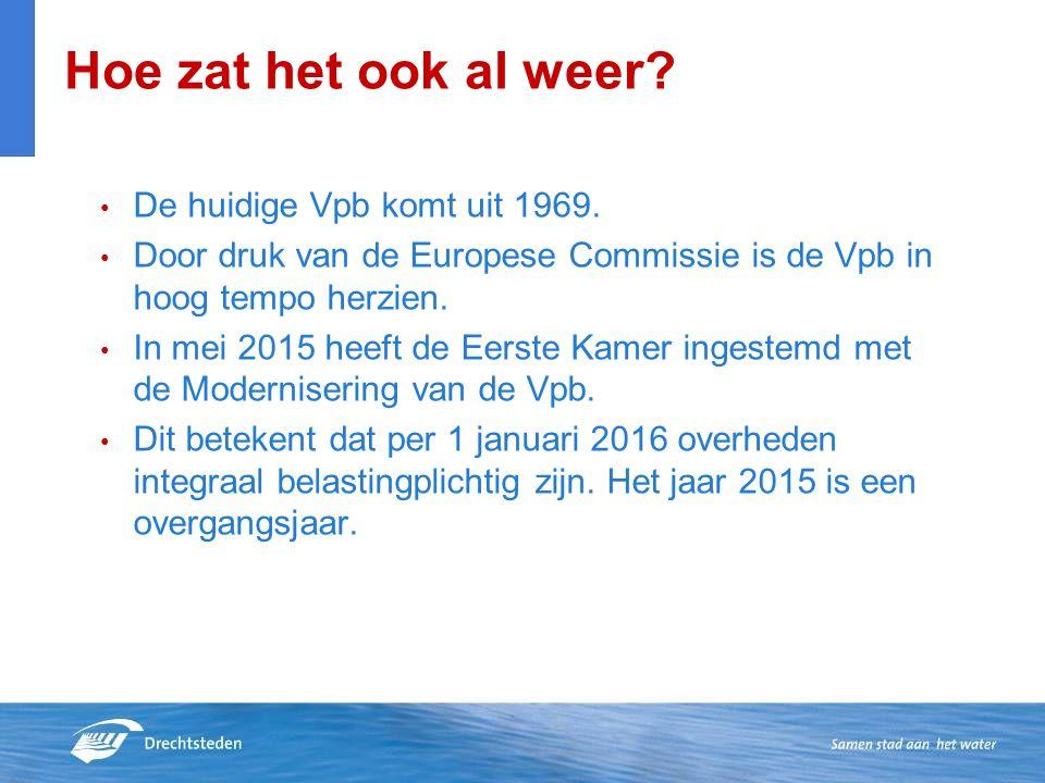 De huidige Vpb komt uit 1969. Door druk van de Europese Commissie is de Vpb in hoog tempo herzien.