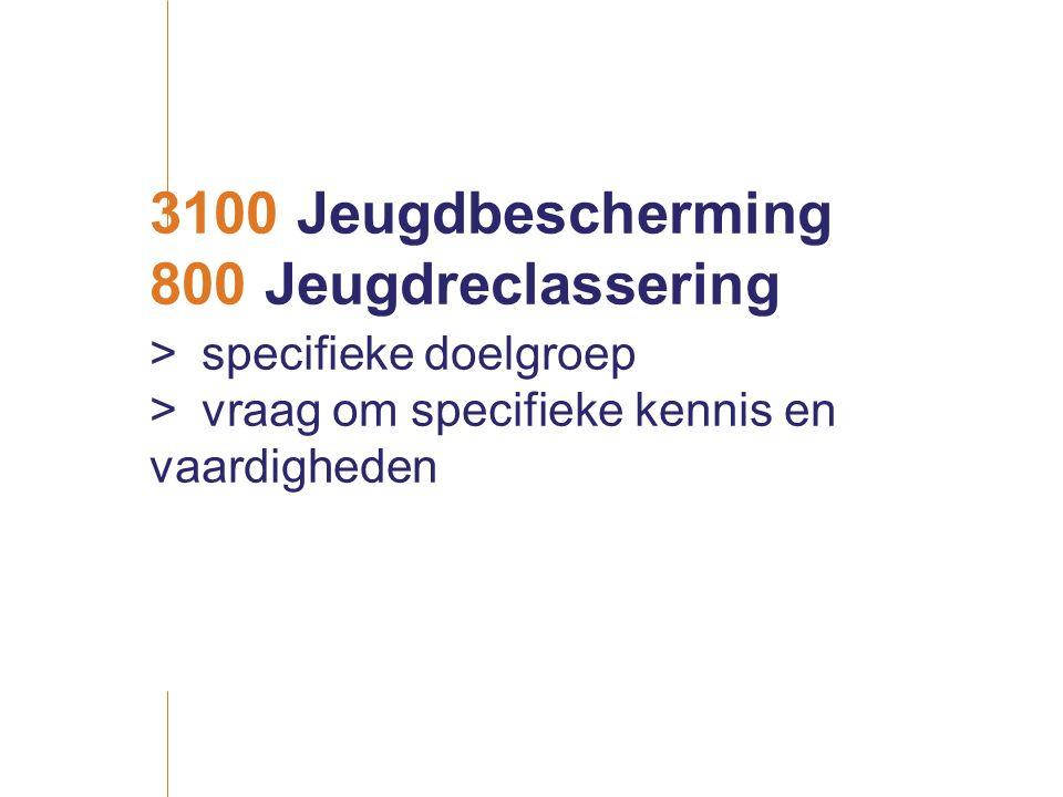3100 Jeugdbescherming 800 Jeugdreclassering > specifieke doelgroep > vraag om specifieke kennis en vaardigheden