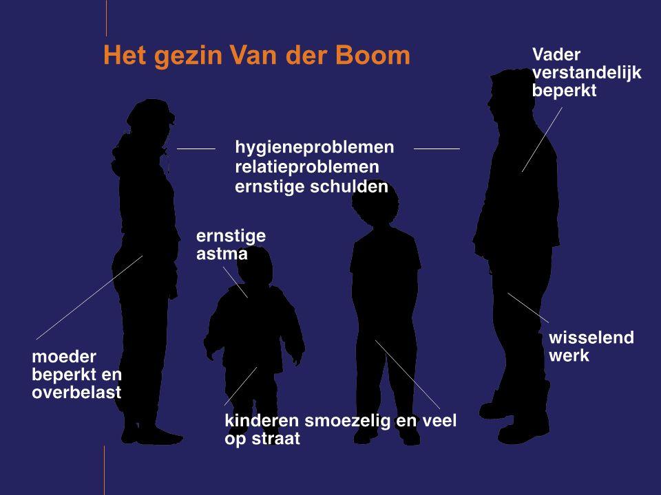 Het gezin van der Boom >zorgpunten >sterke punten >kern van de problematiek = onveilige situatie voor de kinderen >toegevoegde waarde ots/ jeugdbeschermer