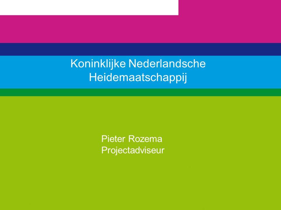 Koninklijke Nederlandsche Heidemaatschappij Pieter Rozema Projectadviseur
