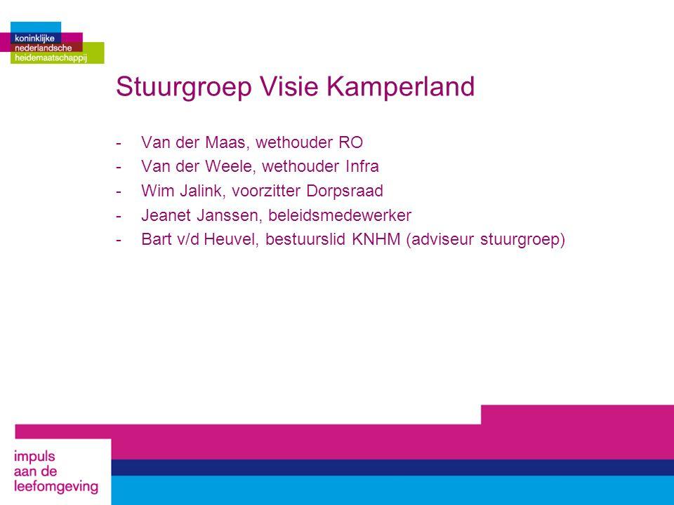 Stuurgroep Visie Kamperland -Van der Maas, wethouder RO -Van der Weele, wethouder Infra -Wim Jalink, voorzitter Dorpsraad -Jeanet Janssen, beleidsmede